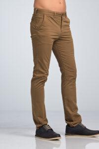 Ανδρικό Παντελόνι Chino Υφασμάτινο Κάμελ - Slim fit