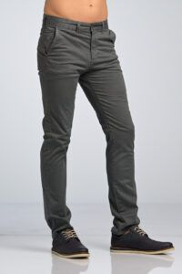 Ανδρικό Παντελόνι Chino Υφασμάτινο MASSARO Γκρι - Slim fit