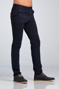 Casual Καθημερινό Ανδρικό Παντελόνι Chino Υφασμάτινο MASSARO Μπλε - Slim fit