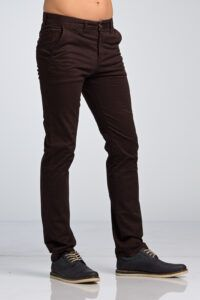 Ανδρικό Παντελόνι Chino Υφασμάτινο MASSARO Μπορντό- Slim fit με ελαστικό