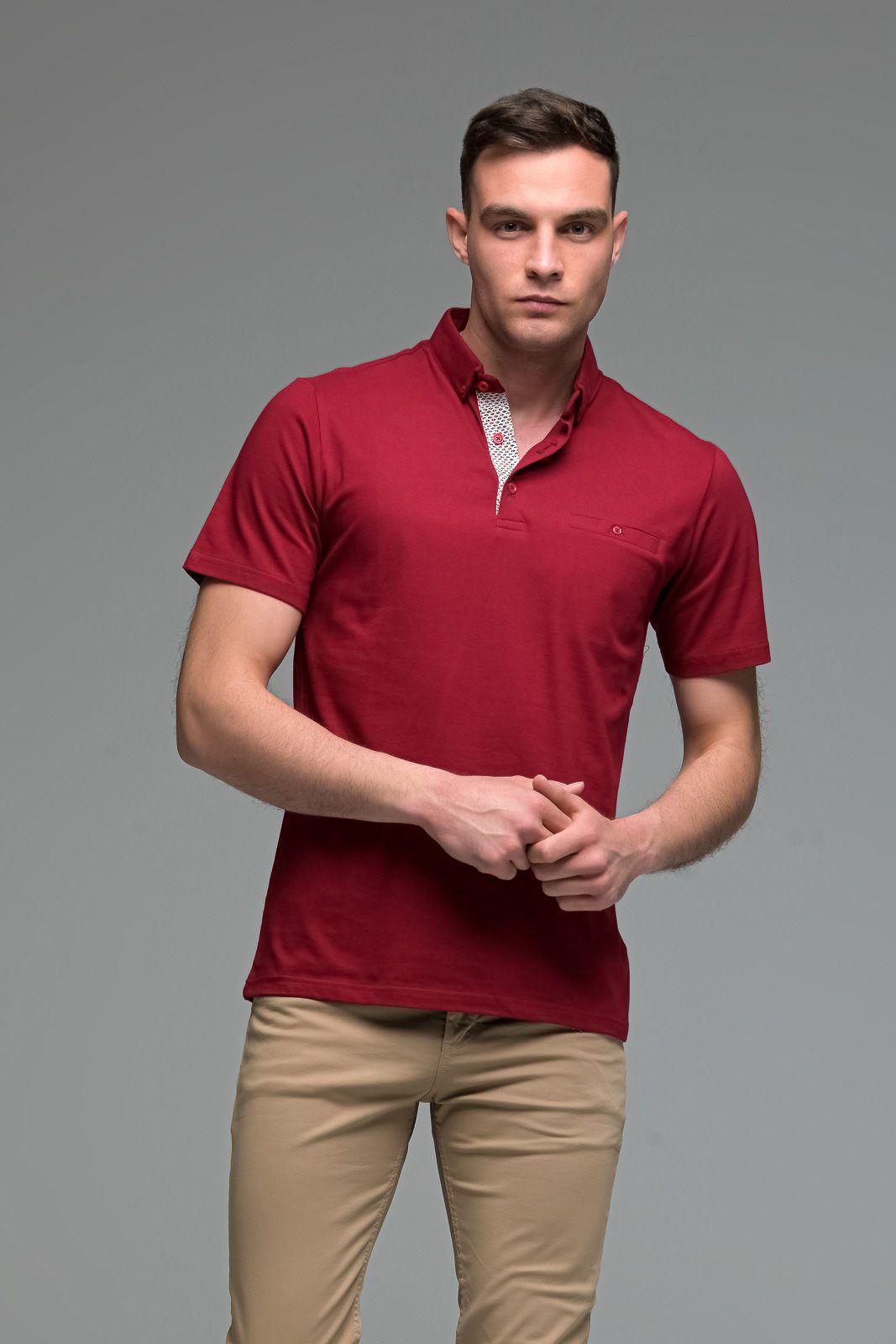 Κόκκινο Ανδρικό Πόλο Μπλουζάκι με Τσεπάκι