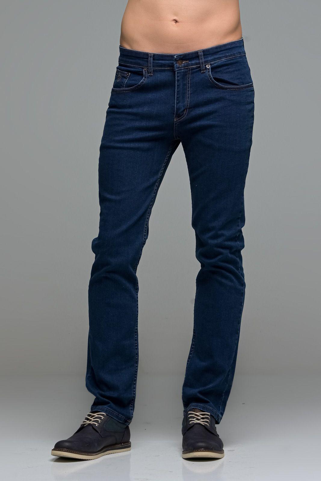 Ανδρικό Μπλε Τζιν Massaro Παντελόνι με Ελαστικό– Straight Fit