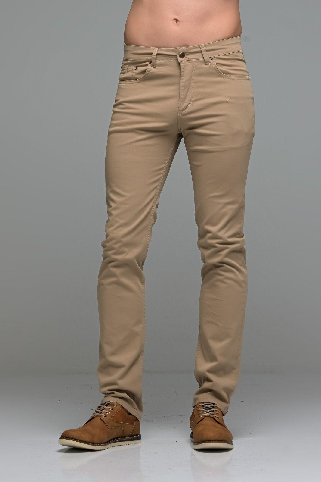 Καλοκαιρινό Ανδρικό Παντελόνι Πεντάτσεπο MASSARO Μπεζ- Straight fit