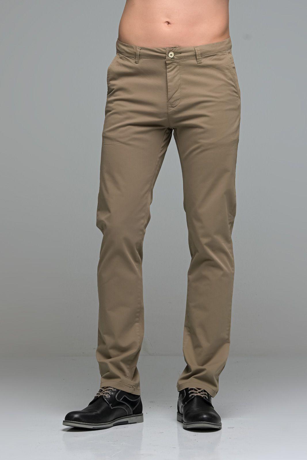 Καλοκαιρινό Ανδρικό Παντελόνι Chino MASSARO Χακί- Straight fit