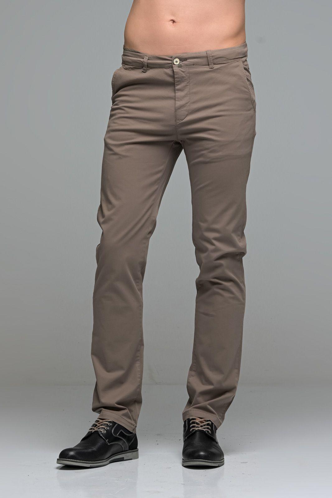 Καλοκαιρινό Ανδρικό Παντελόνι Chino MASSARO Χακί Nude- Straight fit