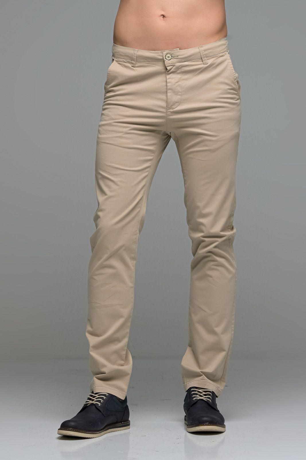 Καλοκαιρινό Ανδρικό Παντελόνι Chino MASSARO Μπεζ- Straight fit