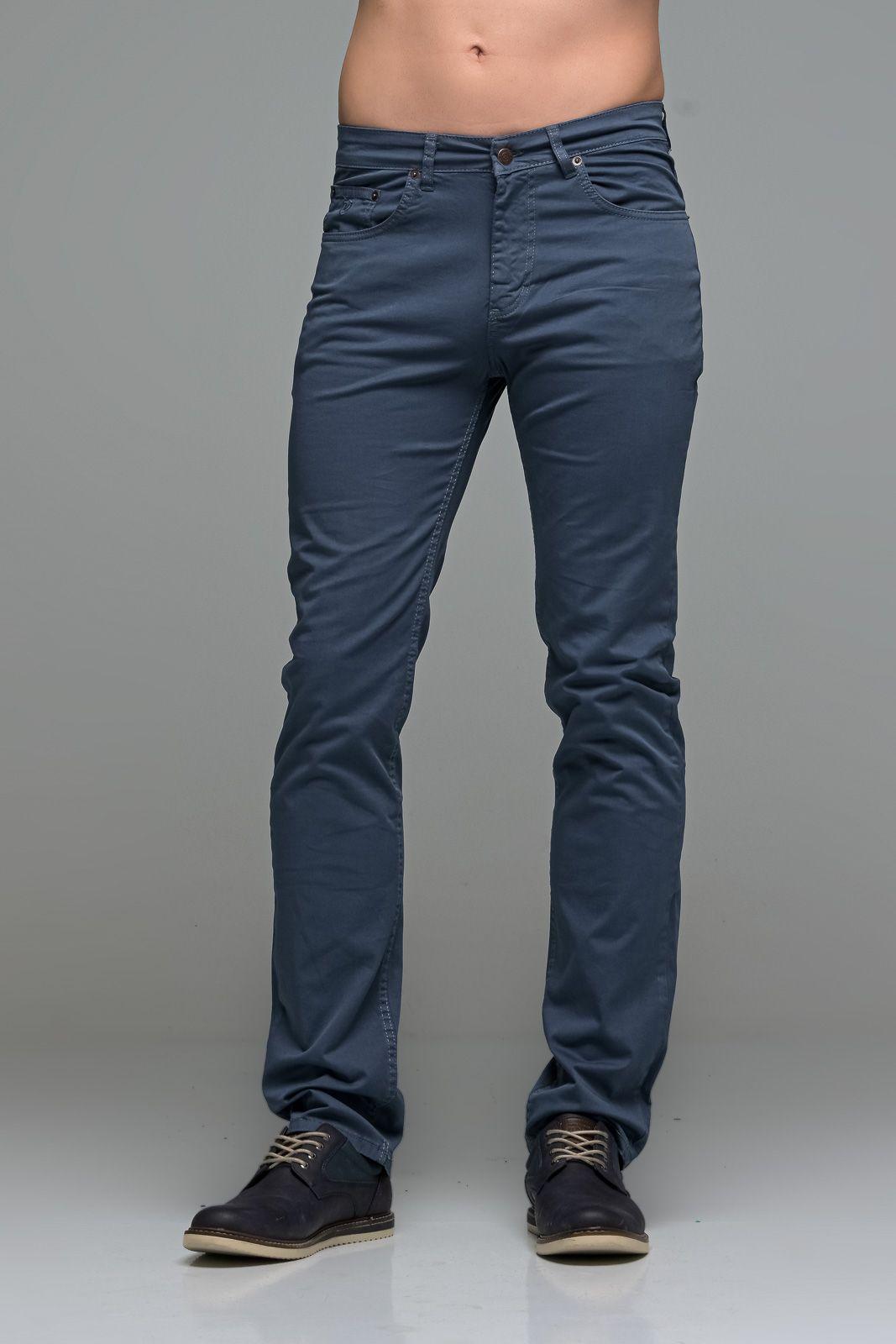 Καλοκαιρινό Ανδρικό Παντελόνι Πεντάτσεπο MASSARO Γκρι Μπλε - Straight fit